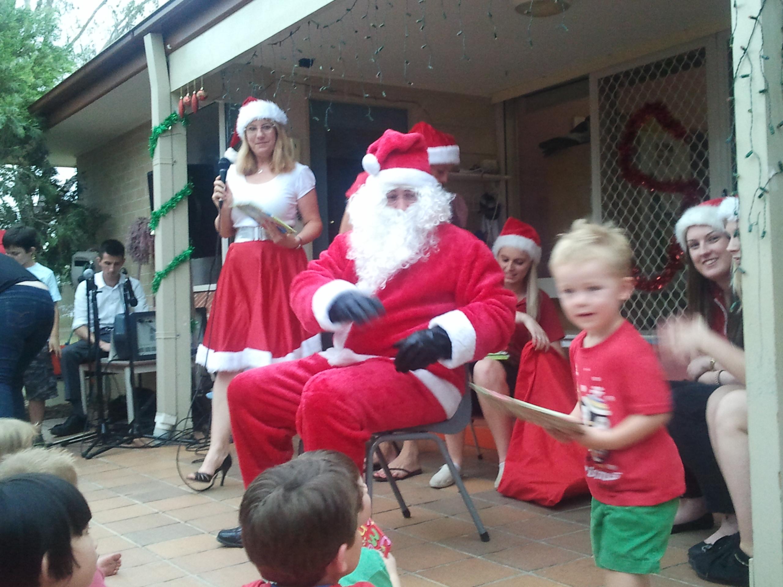 Running from Santa